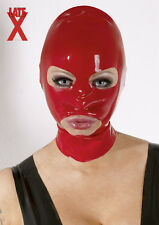Masque Cagoule Mixte Latex Rouge Red Rubber Hood
