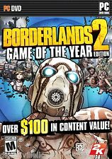 Borderlands 2 Game of the Year Edition Brand New Actual Game in DVD Case GOTY