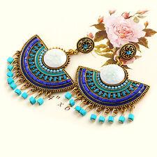 1 Pair Charming Korean Beads Fan Earrings Ear Stud Wedding Gift Jewelry