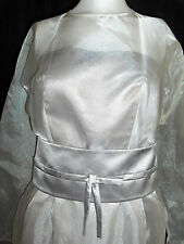 FANCY NY BRIDAL NEW YORK  WEDDING GOWN DRESS 10 SILVER SHORT PEARLS  NWT $1,500