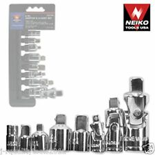 8Pc Adaptor & Universal-Joint Set, Neiko Tools, New
