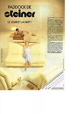 PUBLICITE  1980   STEINER  banquette-lit PADDOCK