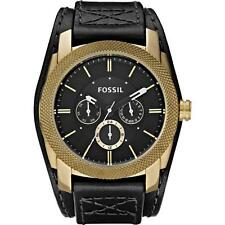 Fossil Men's Machine Cuff Vintaged Bronze Leather Strap Watch DE5014 (PRE-OWNED)