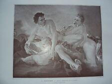 COMPOSITION DE F. BOUCHER VENURS MERCURE ET L AMOUR 1900