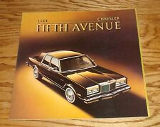 Original 1984 Chrysler Fifth Avenue Deluxe Sales Brochure 84
