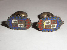 Rare vintage St. Augustine Florida sterling silver enamel coat of arms cufflinks