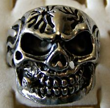 SCULL ~ STAINLESS_STEEL ~ SIZE:10 ~  RING -- (GREAT_CHRISTMAS_GIFT)