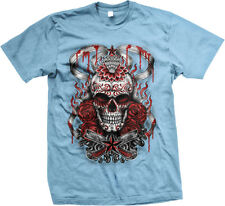 Blood Roses Skull Death Muerte Horror Scary Creepy Eery  Mens T-shirt
