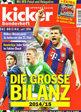Kicker Sonderheft Die Grosse Bilanz 2014/15 Finale German Football Season Review
