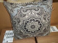 Frontgate Outdoor Patio Pool Yard Throw Pillow Jewel Artisan Midnight Fringe 20""
