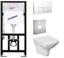 Vorwandelement mit Spülkasten Geberit mit Wand-WC   spülrandlos. WC Set