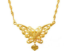 24k gold plated butterfly necklace