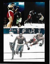 MUHAMMAD ALI VS JOE FRAZIER 3/8/71 COLOR 8X10 SUPER FIGHT #I  COLLAGE