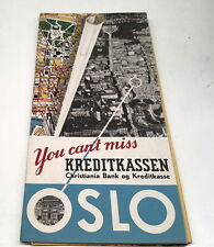 1960s ? OSLO NORWAY Road Map  RARE