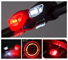 Silicone Bike Bicycle Cycling Head Front Rear Wheel LED Flash Light Lamp BUY RF