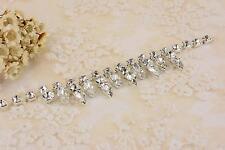 Sparkle Dangle Catena Cristallo Strass da Sposa Nozze Di Diamante Taglio Motivo