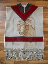 Old maybe Vintage Native Indan Poncho Top Clothing Bull Suede or Cowhide Fringe