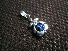 Tibetan silver necklace good luck cute silver bear evil eye charm pendant ELGR