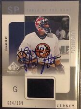 Roberto Luongo 2001-02 Sp Game Used Autograph Jersey Islanders Panthers /100
