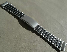 Timex Ironman Triathlon Stainless Steel Black 19mm Clasp Watch Band Round Ends