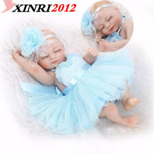 Lifelike Full Body Vinyl Silicone Reborn Baby Girl Doll Soft Newborn Sleeping