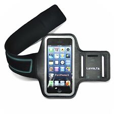 Original Lavolta® Sports Armband Case with Earphone for Apple iPhone 6 Black
