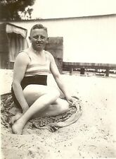 WWII German RP- Army Soldier- Semi Nude- Gay Interest- Bathing- Sand- Beach- 40s