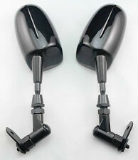 Black Motorcycle Mirrors For Yamaha YZF R1 2002 2003 2004 2005 2006 2007 2008