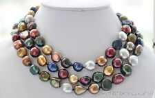 z5265 15mm baroque multicolor Freshwater cultured pearl necklace 50inch