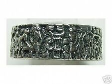 LOOK Mural Life of Egyptian Ring Real Sterling Silver .925 egypt Pharaoh King Je