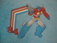 Transformers 1984 Robot Cartoon Fan Soft Light Blue T Shirt 2XL