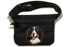 Embroidered Dog treat pouch/bag - for dog shows. Image - Bernese Mountain Dog