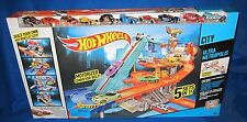 Hot Wheels City Ultra Metropolis 5 In 1 Track Set With 10 Cars NEW