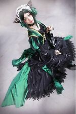 Original Beautiful Black Butler Sieglinde Sullivan Green Witcn Cosplay Costume