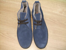 BODEN NAVY TRENDY UNISEX SUEDE LACE UP ANKLE BOOTS SIZE ==SIZE 42==8 BNWOB