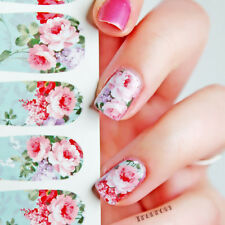 12pcs/Sheet Nail Art Water Decals Transfer Stickers Floral Pattern Decor C6-001