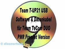 TEAM T-UP21-USB Software CD &  Datenkabel TeCOM-Duo PMR Freenet VHF UHF WIN-10