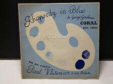 PAUL WHITEMAN Rhapsody in blue de GERSHWIN CORAL ECV 18021