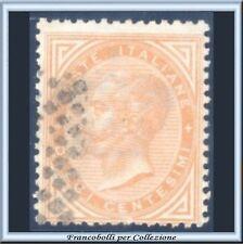 1863 Italia Regno Torino c. 10 giallo ocra n. T17 Usato