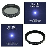 37mm CPL + UV MC Filter Pair NEW ICE HD 37 Hard Coated Filters