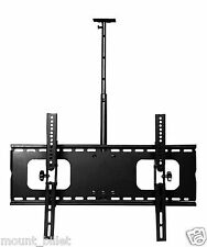 "Lot  of  2 Black 32 to 60"" Plasma/LCD TV Ceiling Mount Bracket 600x400mm"