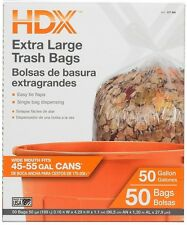 HDX 50 Gal Extra Large Clear Trash Bags Environmentally Friendly Serve Multiple