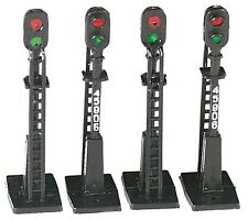 Bachmann HO Scale Train Accessories Block Signals (4 Pcs) 42101