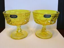 Noritake Perspective Yellow Sherbet/Champagne Glass Lot Of 2 With Stickers - New