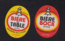 Ancienne étiquette Alcool Bière France BN8256 Brasserie de la Forêt Tournay