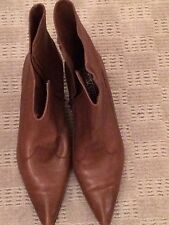 Ladies' brown leather Boots. Size 7