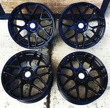 "18"" SATIN BLACK STAGGERED SPIDER ALLOY & FALKEN TYRES WHEELS BMW 3 SERIES E90"