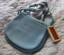 SALE!! NWT TEXIER French *LIGHT BLUE Shoulder Bag* Calfskin Leather MSRP = $170