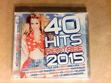 BOITIER 2 CD / 40 HITS 2015 / NEUF SOUS CELLO