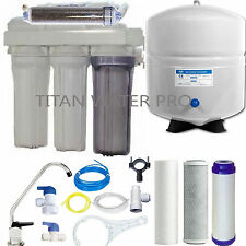 RO/DI Dual Outlet Reverse Osmosis Water Filter Systems - 100 GPD - Made in USA
